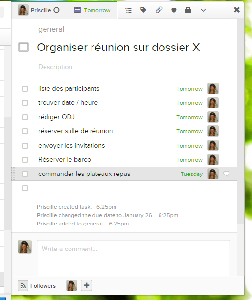 exemple asana productivité