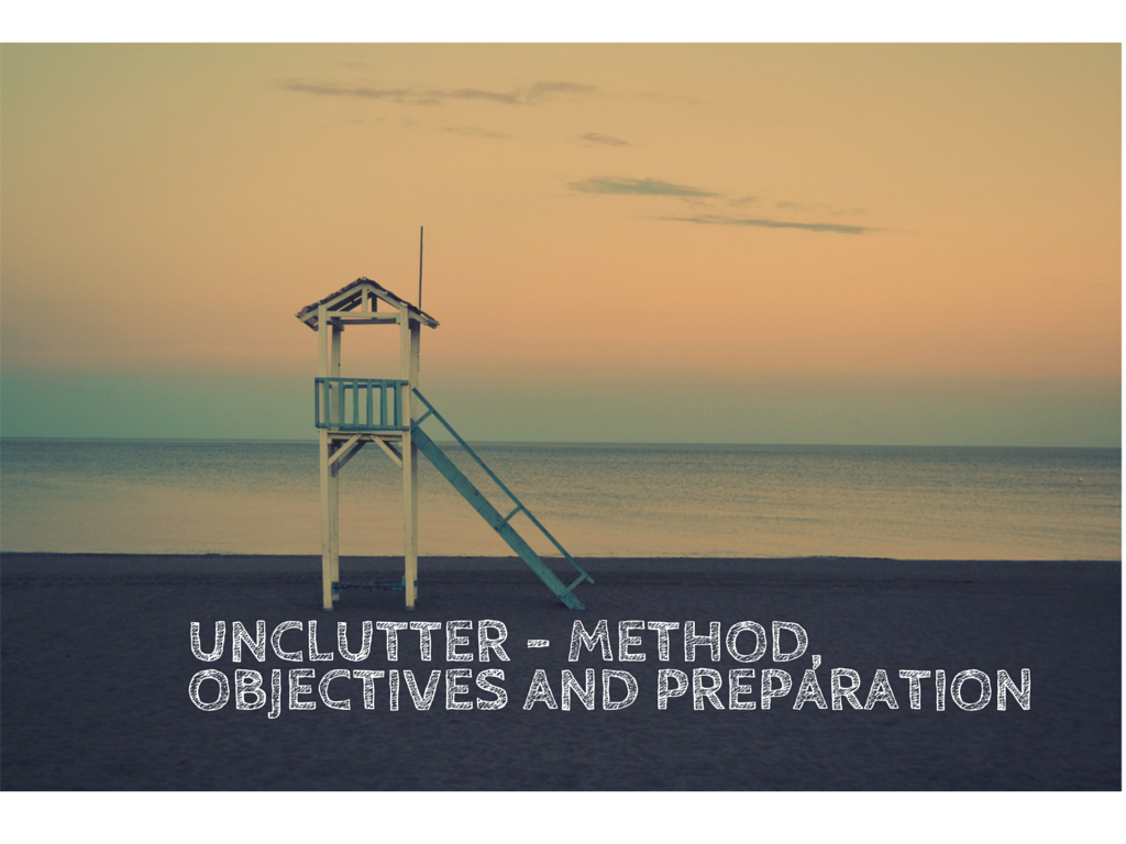 unclutter - method