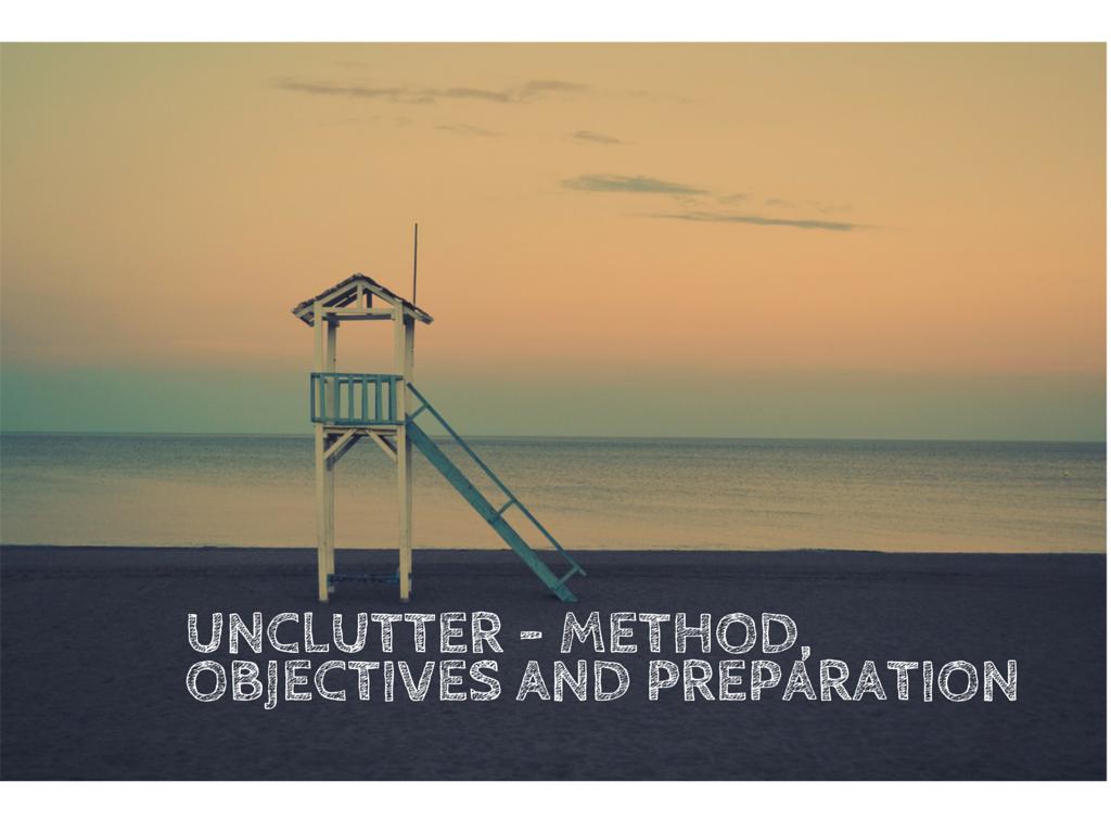 unclutter - method
